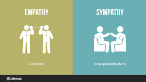 demonstrating empathy